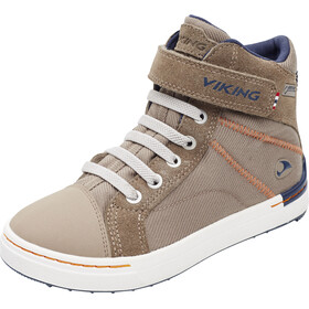 Viking Sagene Mid GTX Shoes Kids Khaki/Navy
